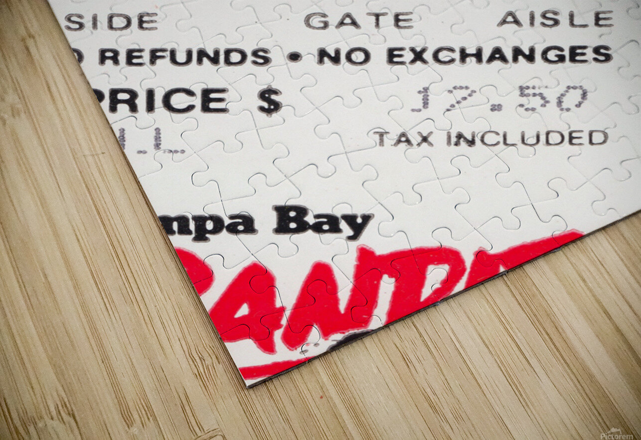 1985 Tampa Bay Bandits Ticket Stub Art HD Sublimation Metal print