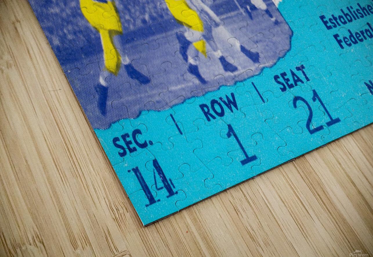 1952 Illinois vs. Michigan Football Ticket Stub Art HD Sublimation Metal print
