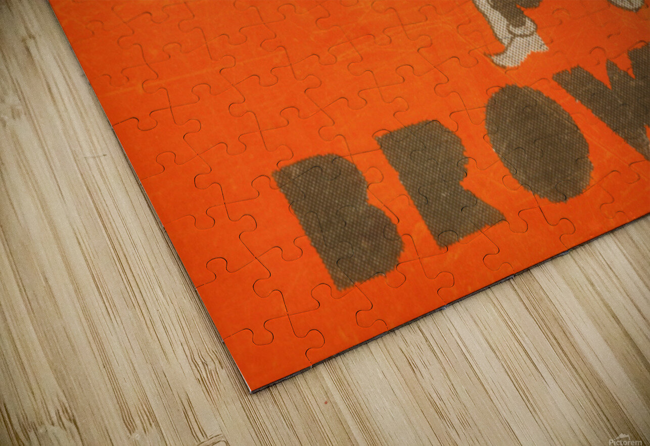 Vintage Cleveland Browns Wall Art HD Sublimation Metal print