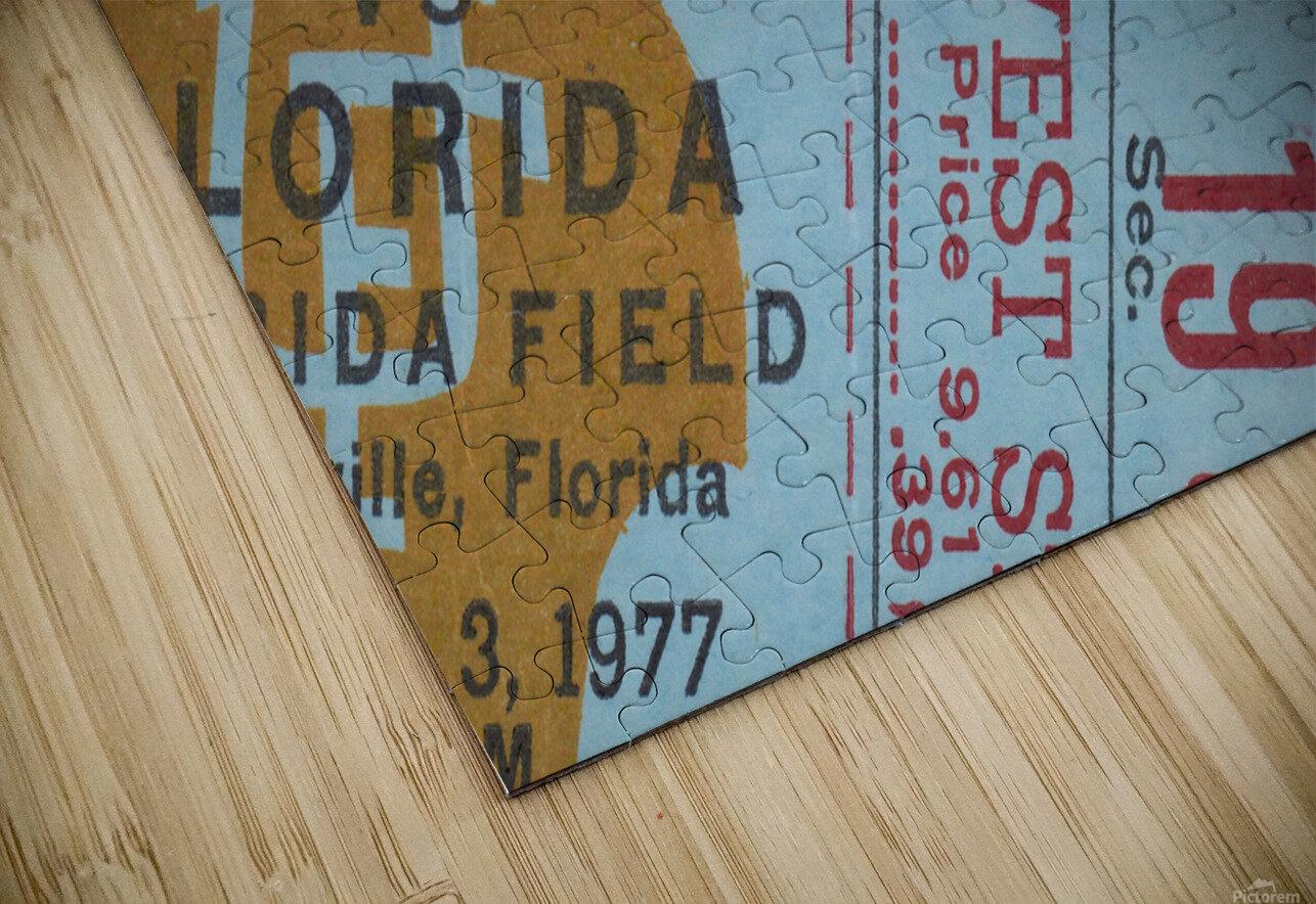1977 Florida State vs. Florida Football Ticket Art HD Sublimation Metal print