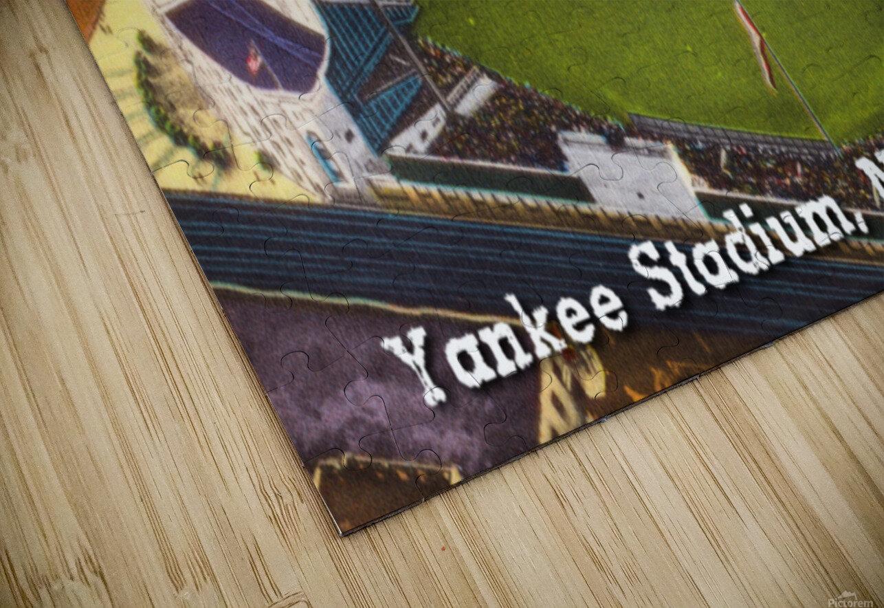 Vintage Yankee Stadium Postcard Art HD Sublimation Metal print