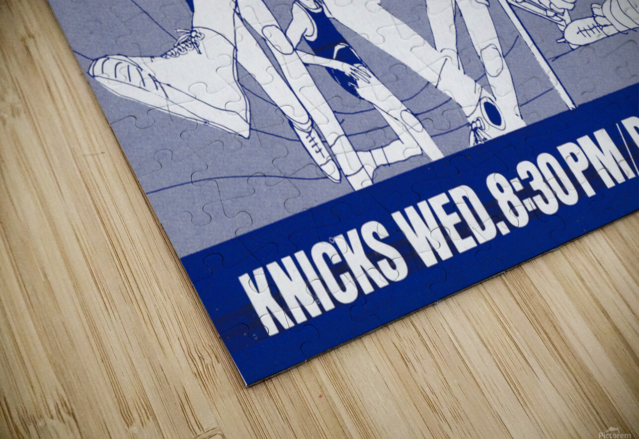 1967 New York Knicks and Rangers WOR TV9 Ad HD Sublimation Metal print