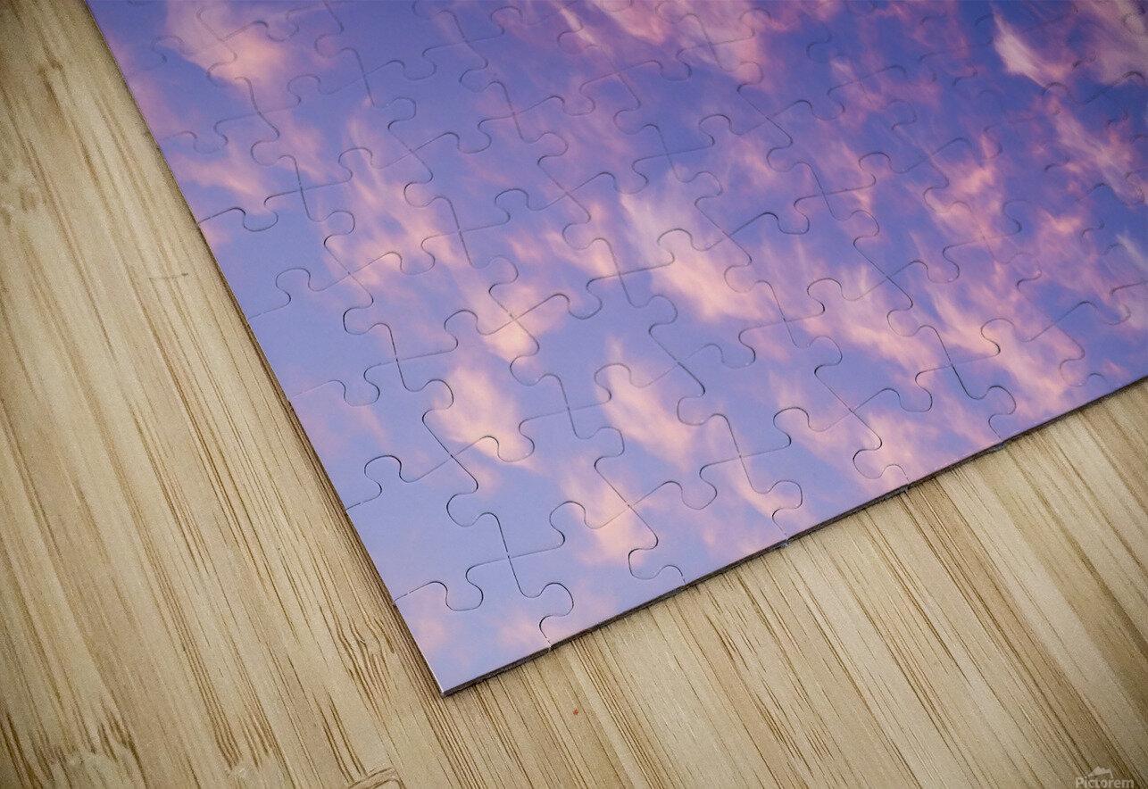 Pink and White Cotton Candy Skies over the Pacific Northwest   Abstract Expressionist Robert Stanek Original HD Sublimation Metal print