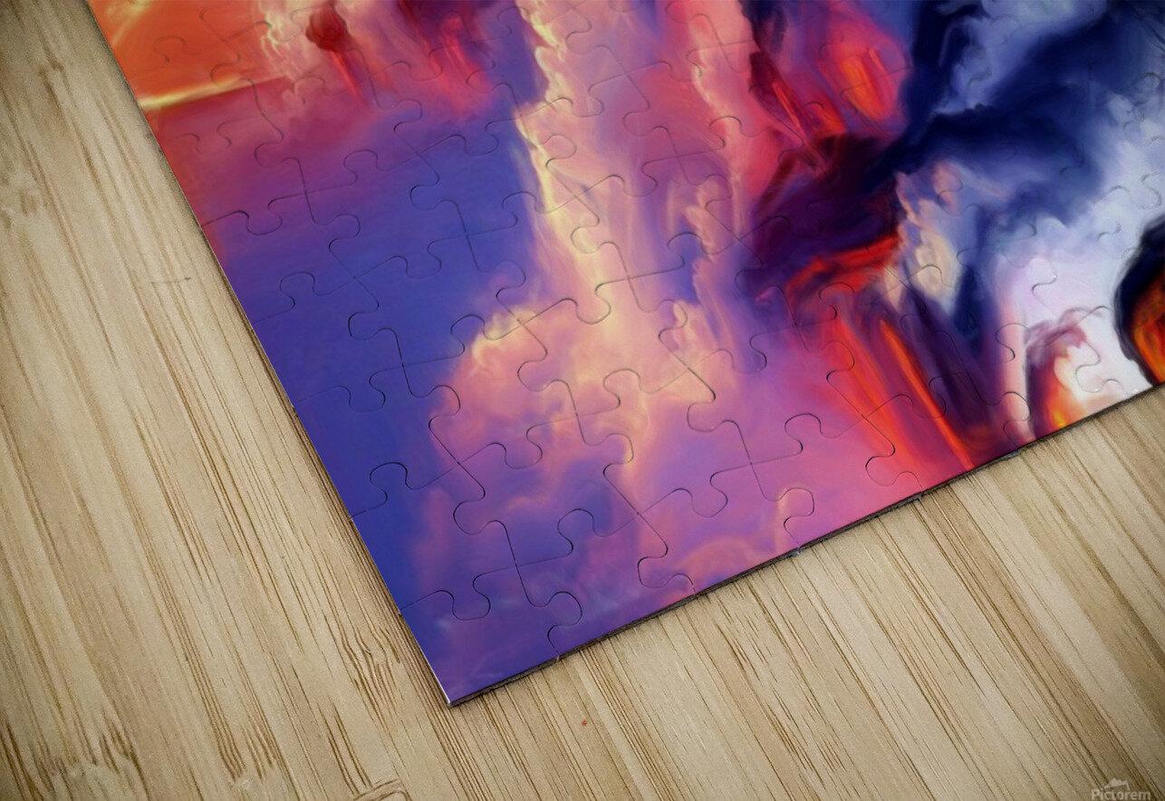 Fiery Mountain HD Sublimation Metal print