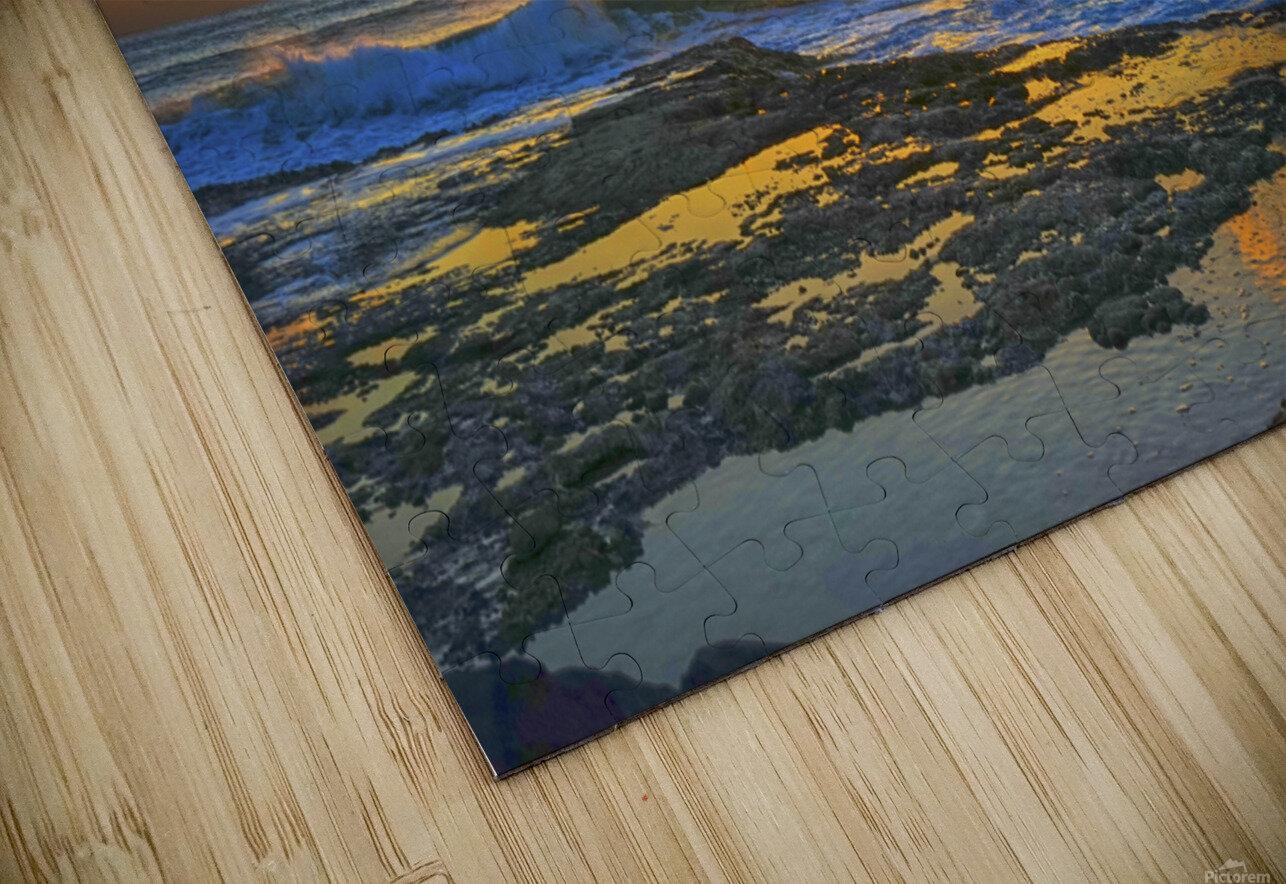 Brilliant Sunset at the Bay Hawaii HD Sublimation Metal print