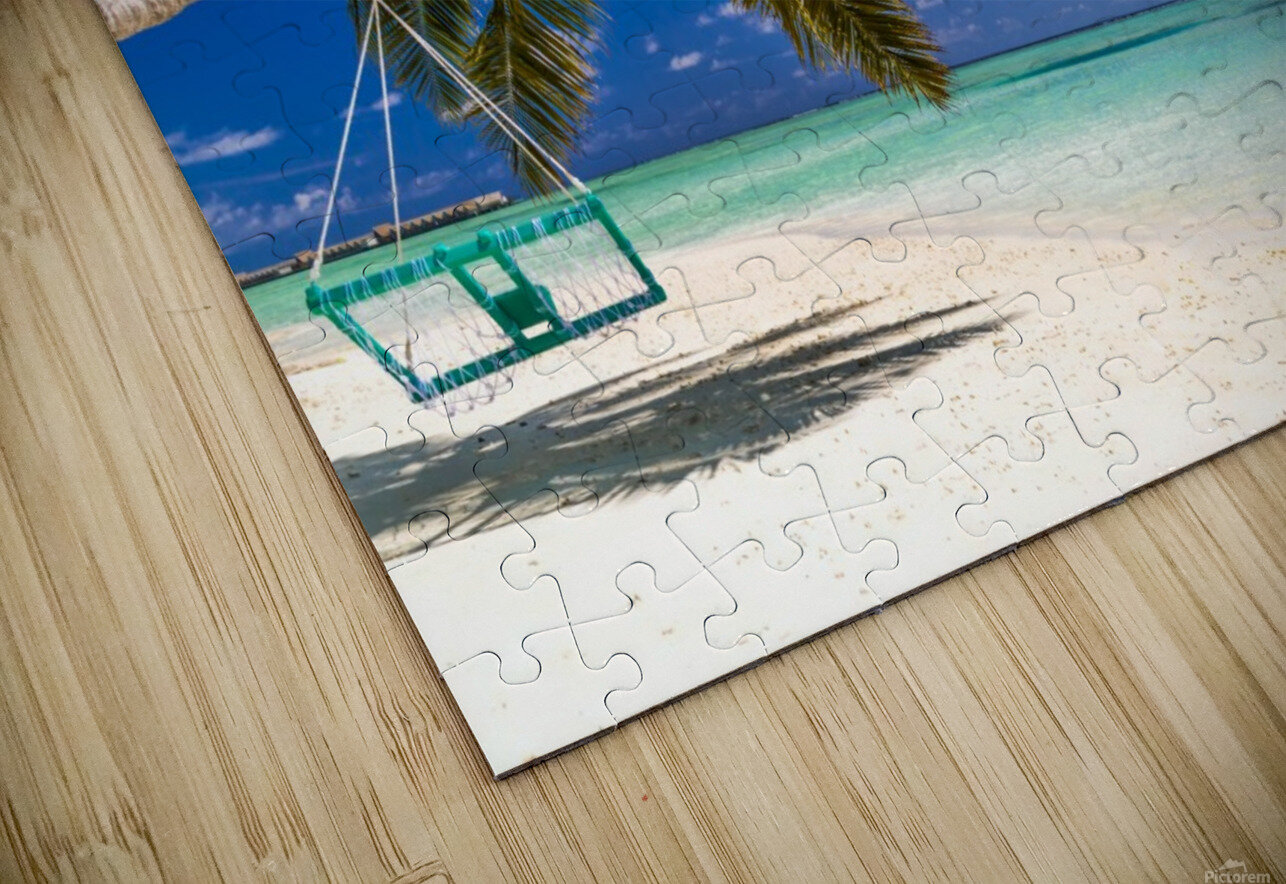 Untouched tropical beach in Maldives HD Sublimation Metal print