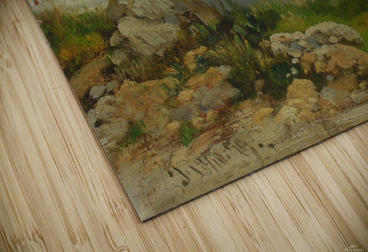 Landscape in Taormina, Sicily HD Sublimation Metal print