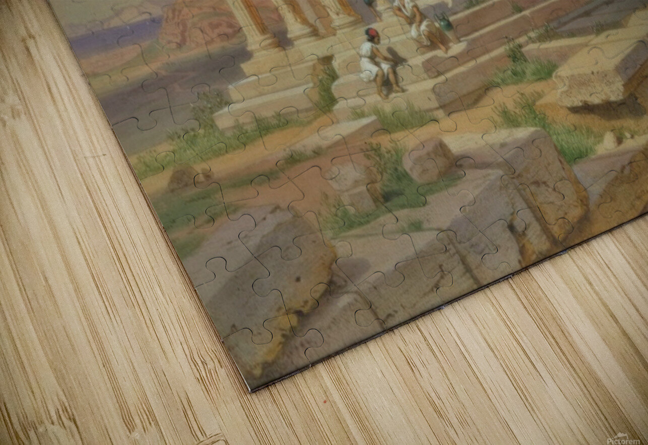 The Temple of Athena Nike HD Sublimation Metal print