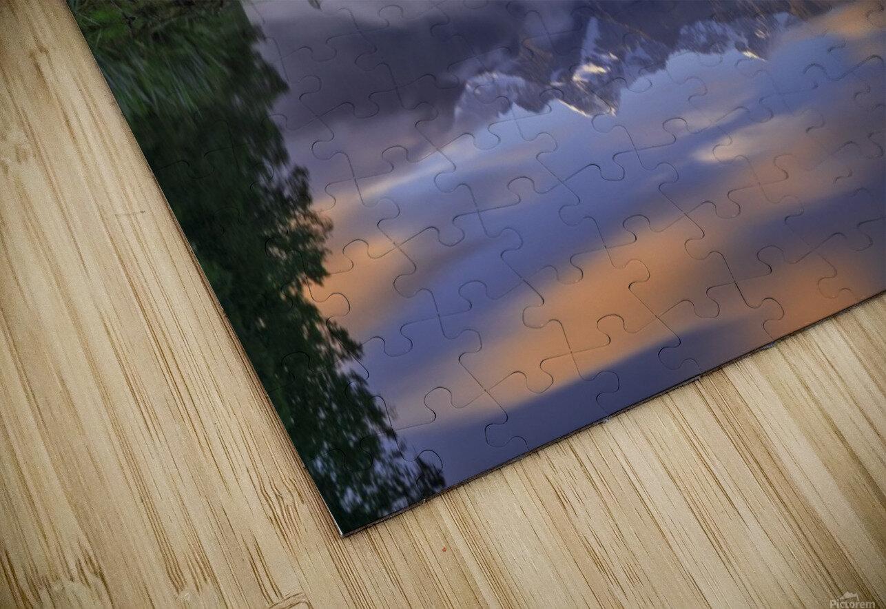 Lake Matheson HD Sublimation Metal print