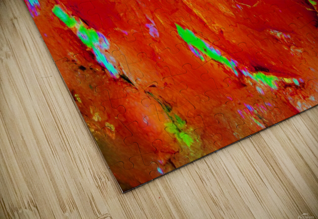 Background Abstract Leaves Seasons Orange Oranges HD Sublimation Metal print