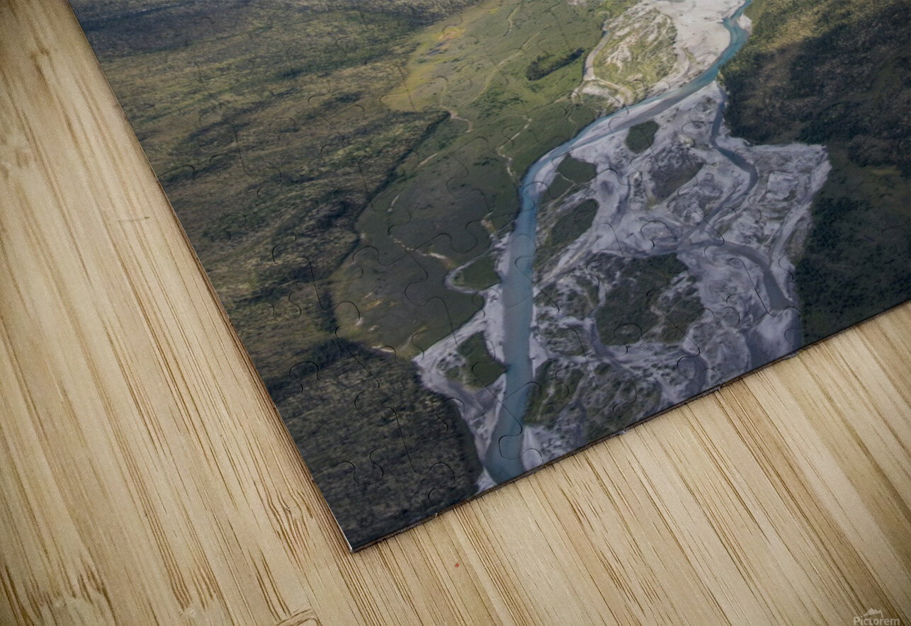 Aerial View of the Brooks Range in summer, ANWR, Alaska HD Sublimation Metal print
