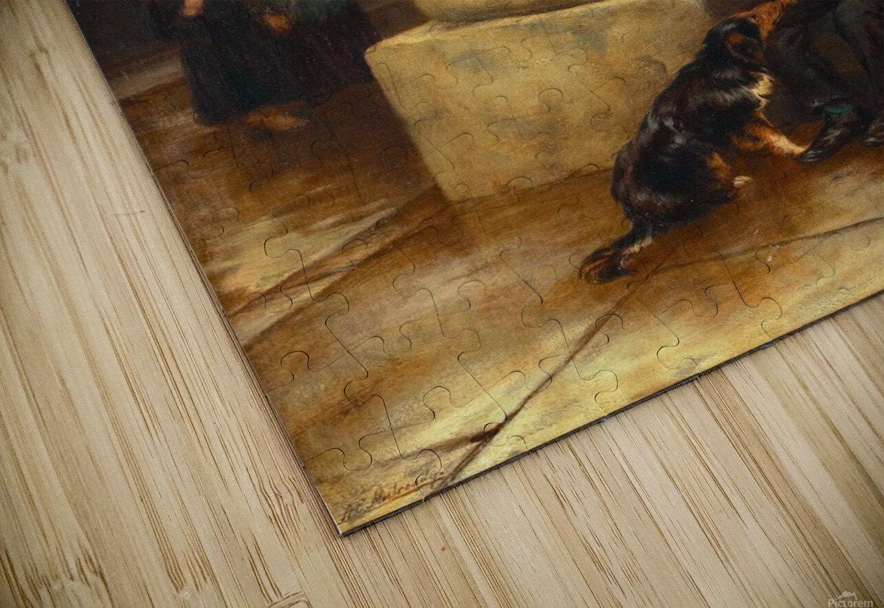 A family and a dog Impression de sublimation métal HD