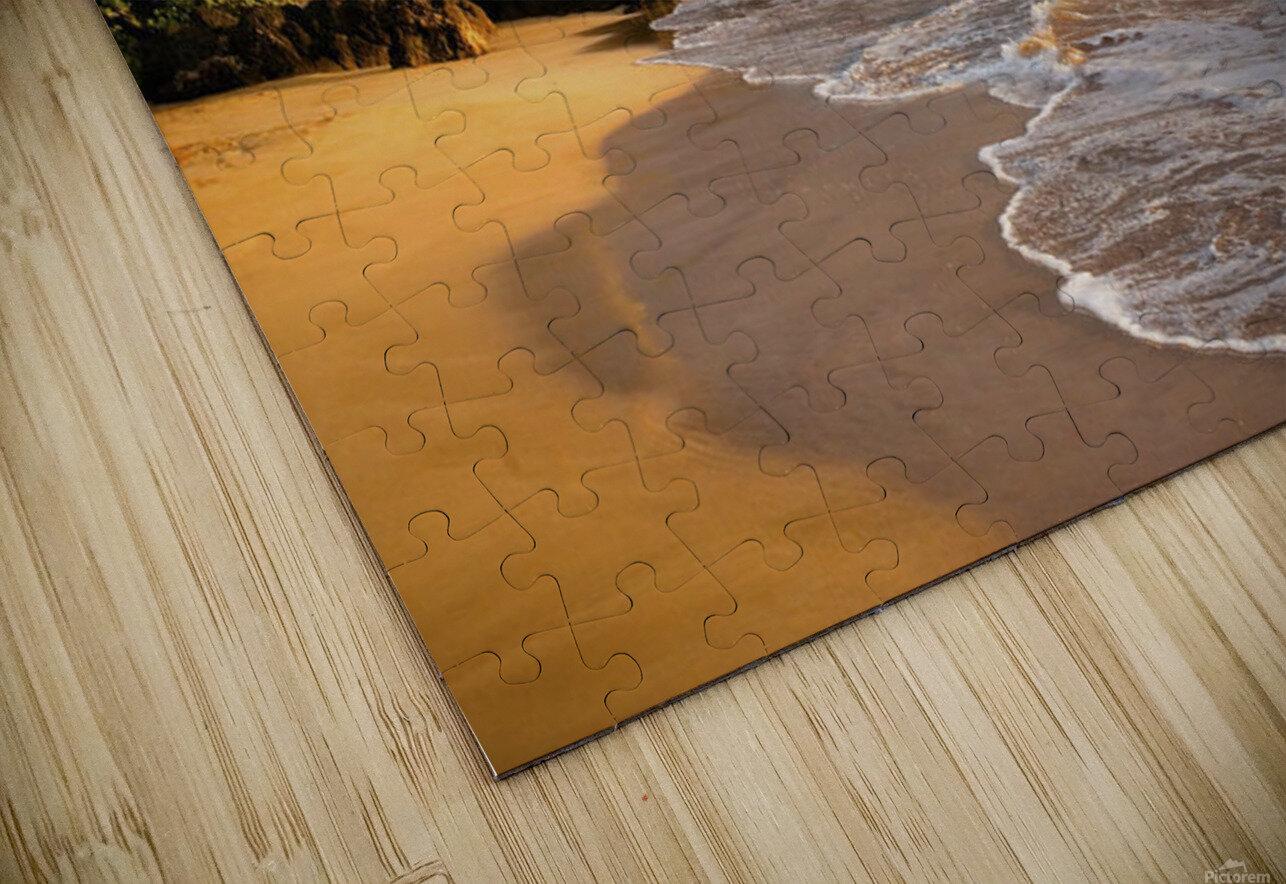 Hawaii, Maui, Makena, Secret Beach At Sunset. HD Sublimation Metal print