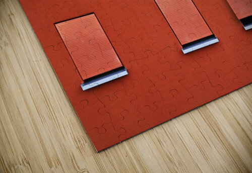 Red jigsaw puzzle