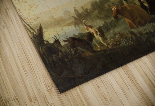 A Hilly Landscape with Figures jigsaw puzzle