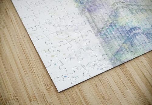 Modern Art BIG BEN | watercolor  jigsaw puzzle