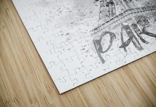 Monochrome Art EIFFEL TOWER | watercolor jigsaw puzzle