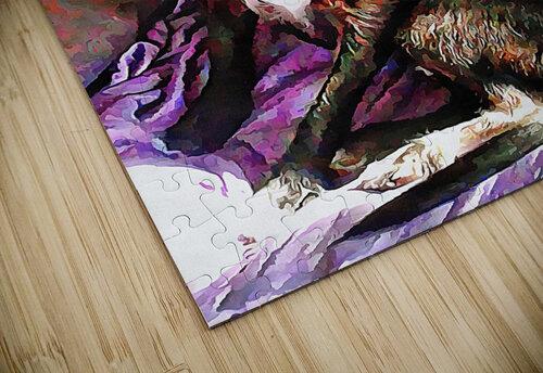 Purple Posing Puppy jigsaw puzzle