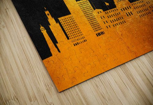 Jackson Florida Skyline Wall Art jigsaw puzzle