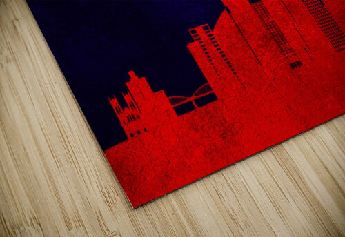 Fort Worth Texas Skyline Wall Art jigsaw puzzle