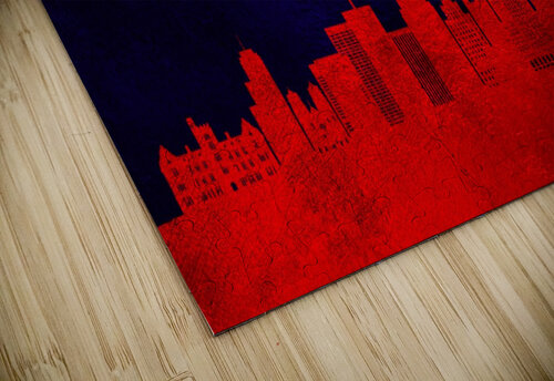 Newark New Jersey Skyline Wall Art jigsaw puzzle