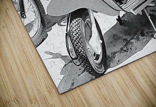 Lambretta Scooter Black and White jigsaw puzzle