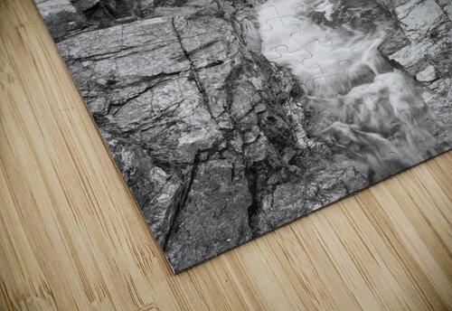 Silver Cascade Falls ap 2226 B&W jigsaw puzzle