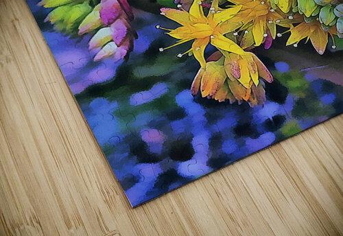 Echeveria Hybrid With Yellow Flowers jigsaw puzzle