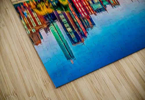 Boston Back Bay reflection jigsaw puzzle