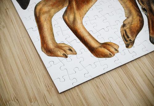 Fox Print | British Wildlife Art | A3 A4 A5 | Fox Lover Gift | Fox Illustration | Fox Painting | Fox Nursery Wall Art | British Animal Print jigsaw puzzle