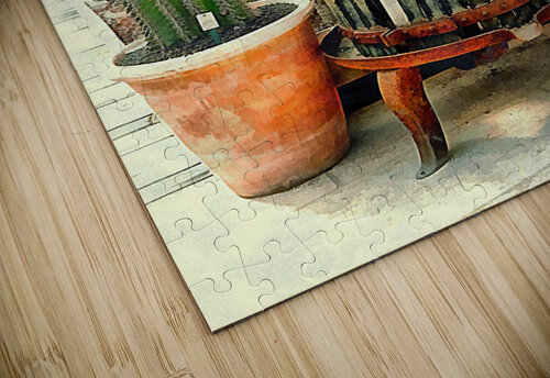 Old Wine Press Used in Succulent Display jigsaw puzzle
