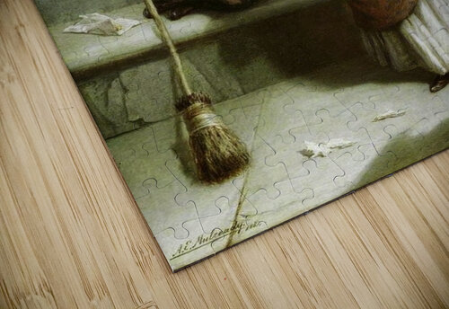 Selling flowers and sweeping the streets jigsaw puzzle