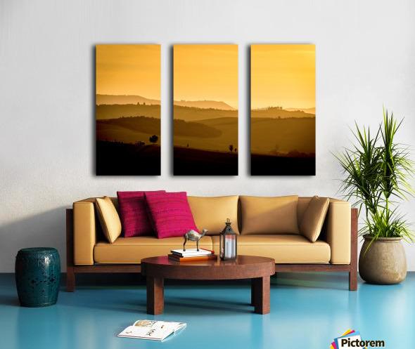 Tuscany Pienza Dawn Split Canvas print