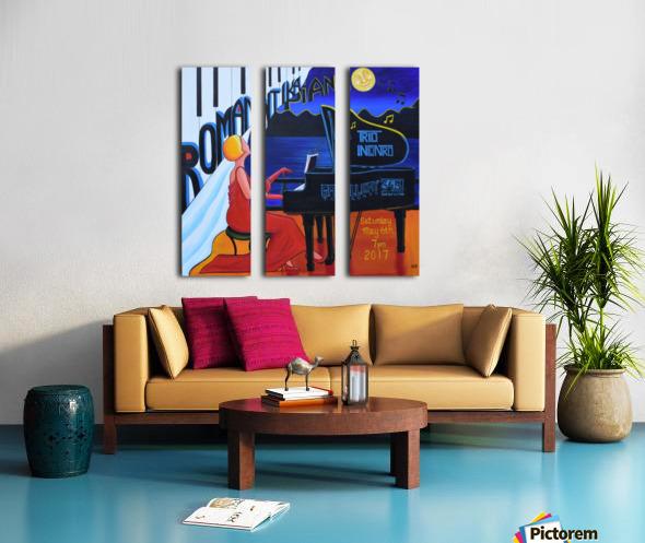 Romantika Piano Split Canvas print