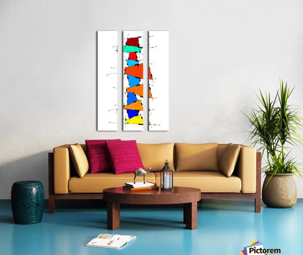 Sanomessia - melting cubes Split Canvas print