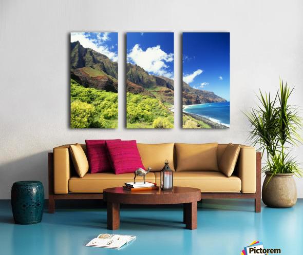 Hawaii, Kauai, Napali Coast, Kalalau Valley, Secluded Beach Split Canvas print