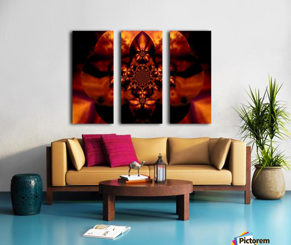 Fire Orchid 1 Split Canvas print