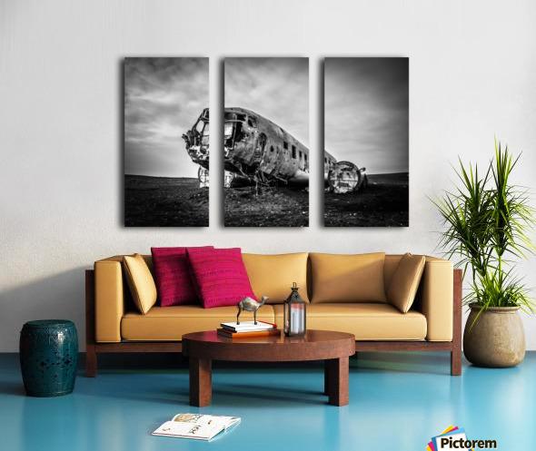 Plane wreck B&W Split Canvas print