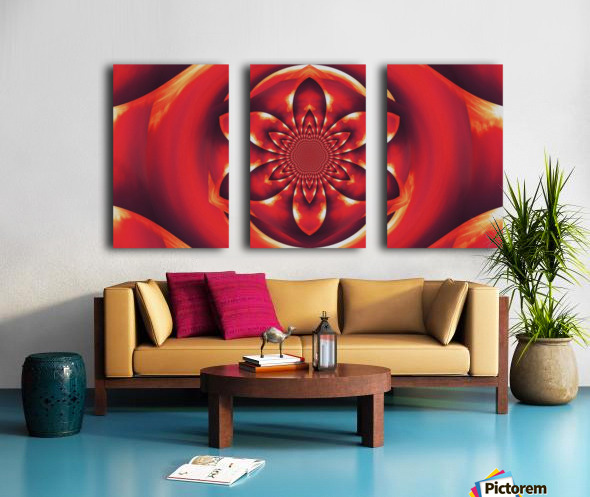 Red Fire Flower 1 Split Canvas print