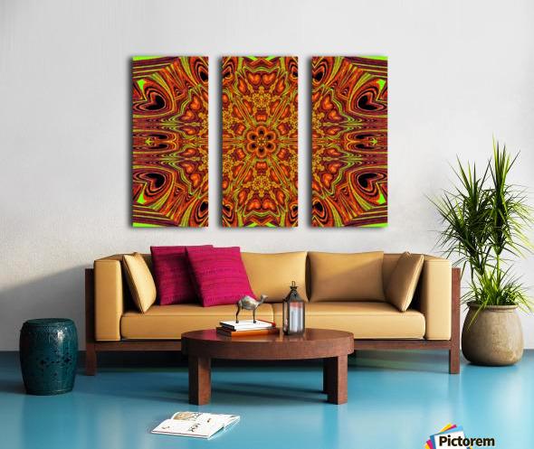 Sunshine in Flowers  Split Canvas print