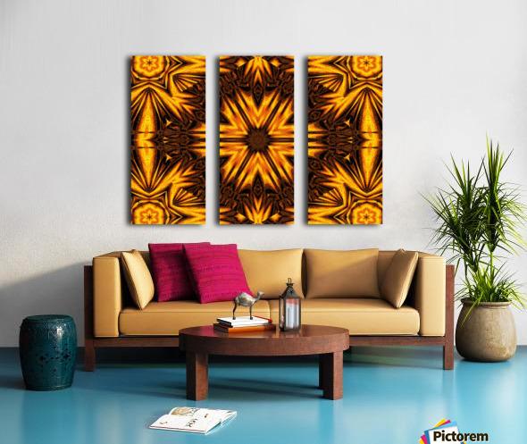 Golden Dandelion Split Canvas print
