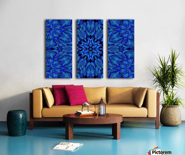 Electric Blue 1 Split Canvas print