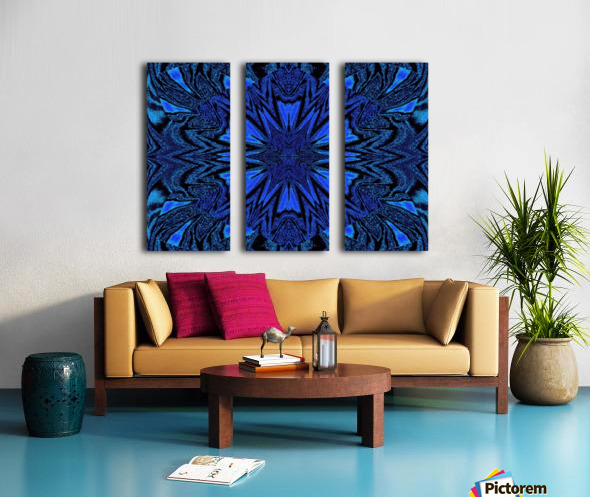 Electric Blue 2 Split Canvas print