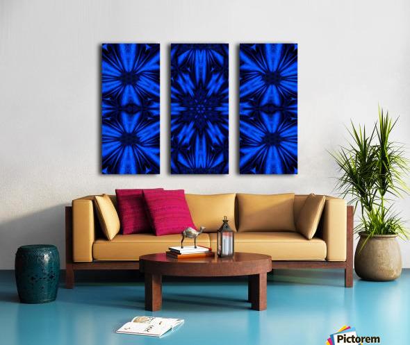 Midnight Flowers Split Canvas print