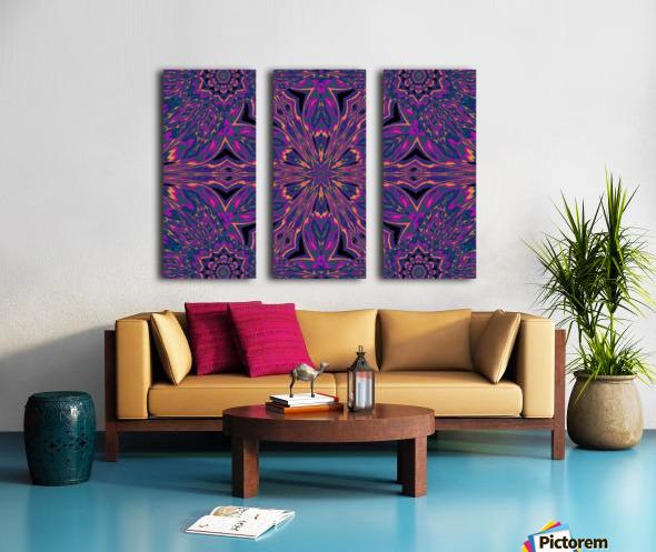 Psychedelic Jasmine 3 Split Canvas print