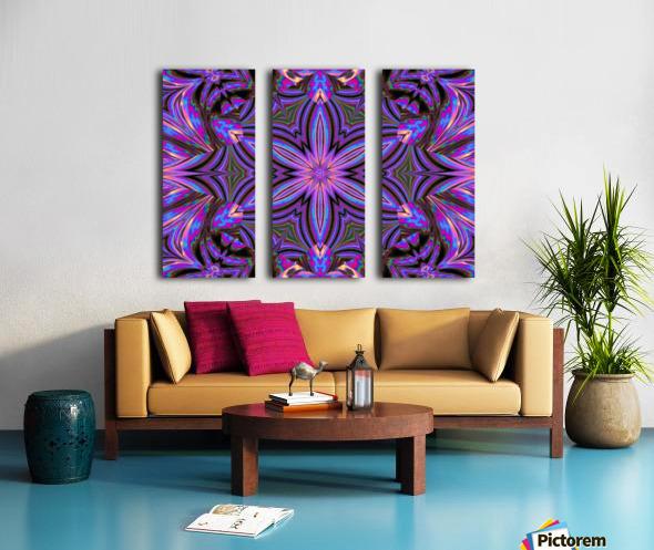 Psychedelic Jasmine 1 Split Canvas print