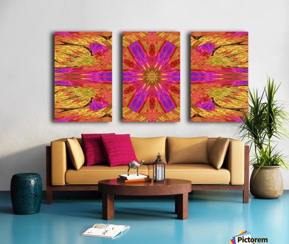 Star Flower in Pink Split Canvas print