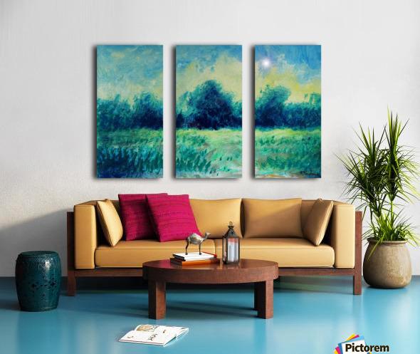 Landscape and Sun Split Canvas print