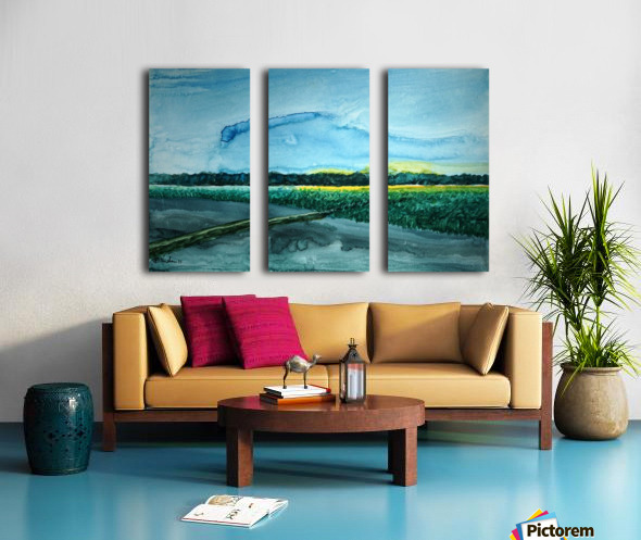 The flieds 1 Split Canvas print