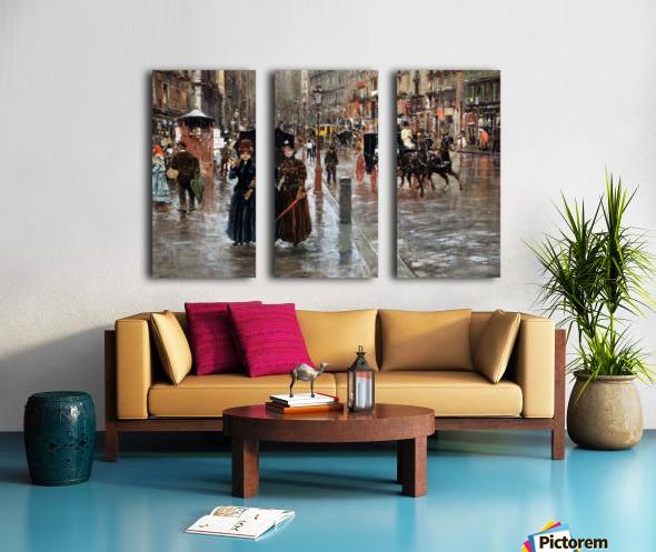 Naples via Toledo, with rain drops Toile Multi-Panneaux
